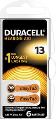 Duracell Hearing Aid 13 Hallókészülék elem, 6db