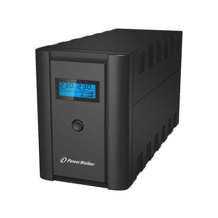 PowerWalker brezprekinitveno napajanje VI 2200 LCD/IEC Line Interactive 2200VA 1200W