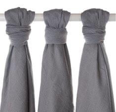 XKKO Bambusové plienky 70x70cm - 3ks - Silver