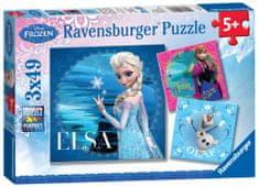 Ravensburger Puzzle Kraina Lodu 3x49 el.