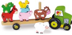 Vilac Traktor so zvieratkami - nasadzovanie
