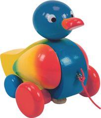 Woody Tahací kachna klapací - modrá