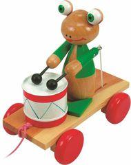Woody žaba za vlečenje, z bobnom
