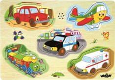 """Woody muzyczne puzzle """"Pojazdy"""""""
