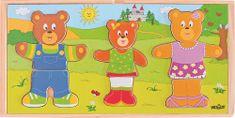 Woody Šatní skříň Oblékni si svou medvědí rodinku