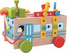 Woody Drewniany autobus z zestawem narzędzi
