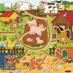Woody Posúvacie zvieratká na statku Mašinka