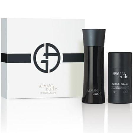 Giorgio Armani Code For Men - EDT 75 ml + deodorant v stiku 75 ml