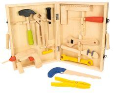Bigjigs Toys drevené hračky Kufrík s náradím