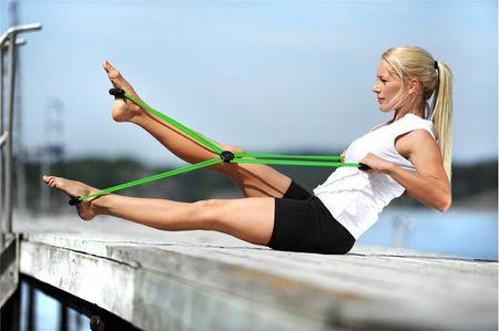 Sissel elastične cevi s štirimi zankami, zelene