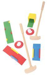 Bigjigs Toys drevené hry - Sada Crazy golf