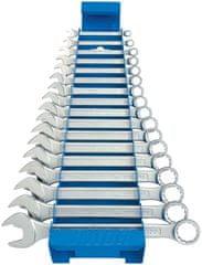 Unior garnitura kratkih viljuškasto-okastih ključeva na metalnom stalku - 125/1MS (605539)