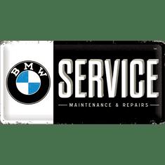 Postershop Plechová tabuľa 25x50 cm BMW Service
