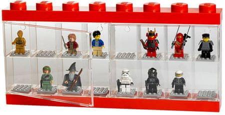 LEGO Zberateľská skrinka na 16 minifigúrok - červená