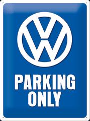 Postershop Plechová tabuľa 30x40 cm Volkswagen Parking Only