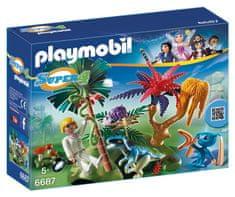 Playmobil 6687 Stratený ostrov s mimozemšťanom a raptorom