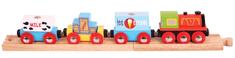 Bigjigs Rail pociąg towarowy + 3 tory
