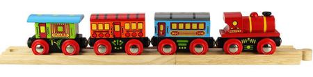 Bigjigs Rail Osobný vlak + 3 koľaje