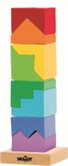 Woody Skladacia veža farebná - hlavolam