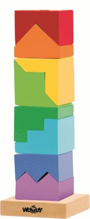 Woody Összerakós színes torony - fejtörő