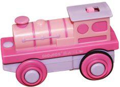 Bigjigs Rail Elektrická lokomotíva ružová