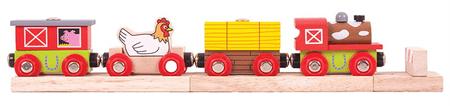 Bigjigs Rail Pociąg farma + 3 el. torów