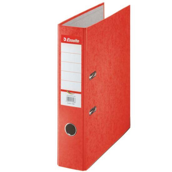 Esselte Zakladač pákový papierový Rainbow A4 7,5 cm červený