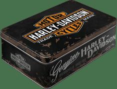 Postershop Retro dóza plochá Harley-Davidson 23x16x7cm