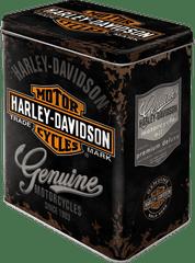 Postershop retro okrasna posoda Harley-Davidson L, črna