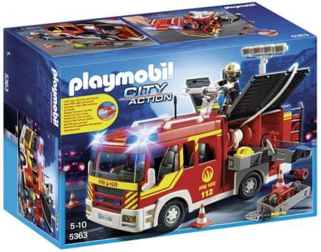 Playmobil Wóz strażacki ze światłem i dźwiękiem 5363