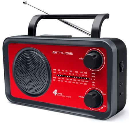 Muse radio M-05, czerwony
