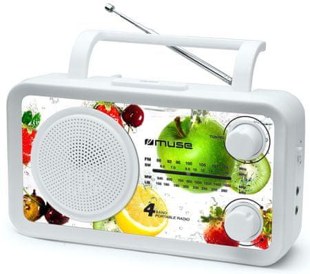 Muse M-05 Hordozható rádió, Fehér