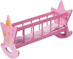 Eddy Toys Postieľka pre bábiky, drevená