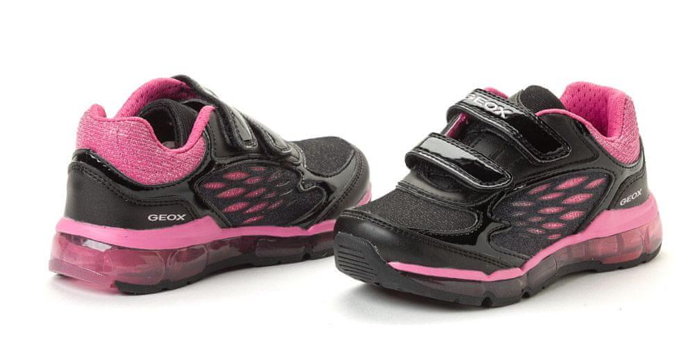 Dívčí Černá Na suchý zip Sportovní obuv od značky Geox FMmDq