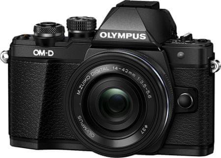 OLYMPUS OM-D E-M10 II + Pencake 14-42 EZ Digitális fényképezőgép, Fekete