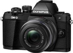 Olympus OM-D E-M10 Mark II + 14-42 II R fotoaparat, črn - Odprta embalaža