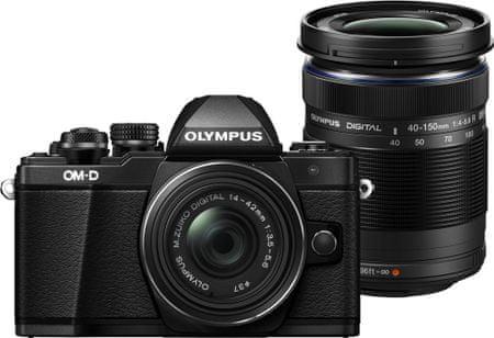 Olympus OM-D E-M10 Mark II + 14-42 R + 40-150 R Black
