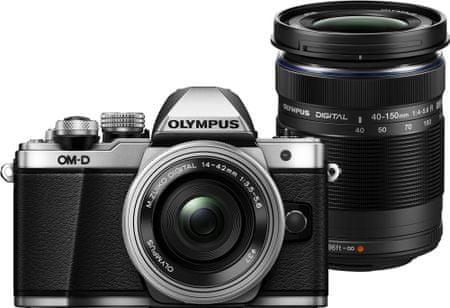Olympus OM-D E-M10 Mark II + 14-42 R + 40-150 R Silver