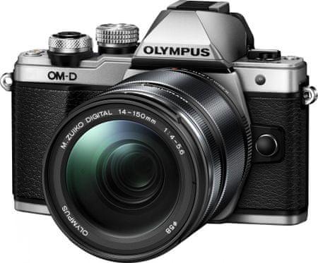 Olympus aparat fotograficzny OM-D E-M10 Mark II + 14-150 II, srebrny