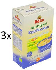 Holle Bio Rýžová bezmléčná kaše - 3 x 250g