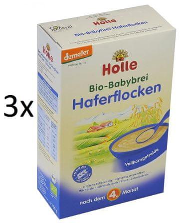 Holle Bio Kaše z ovesných vloček - 3 x 250g