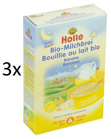 Holle Bio Banánová mléčná kaše - 3 x 250g