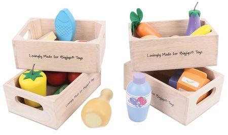 Bigjigs Toys Set zdravých potravin ve čtyřech krabičkách