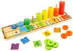 Bigjigs Toys Doska nasadzovanie s číslami
