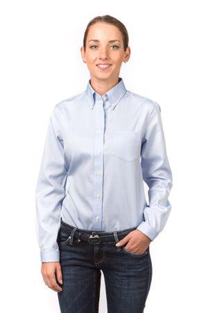 Gant dámská košile s náprsní kapsičkou 36 modrá