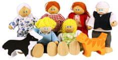 Bigjigs Toys Set rodinky do domčeka 8ks