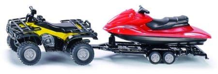 SIKU Super - Štirikolesnik s prikolico in vodni skuter 1:50