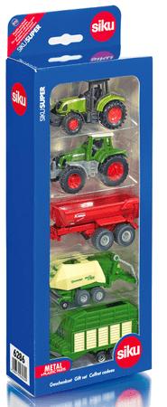 SIKU komplet vozil - kmetijska mehanizacija, 5 kosov