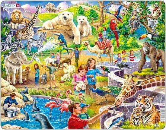 LARSEN Puzzle set Deti v zoo a Arktický život