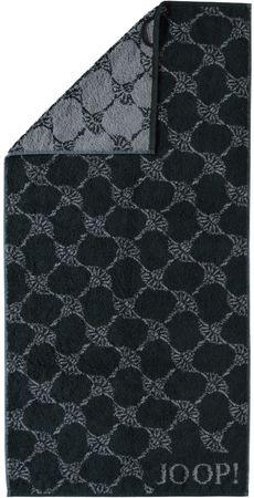 Joop! brisača 80x150cm z motivom rož, črna